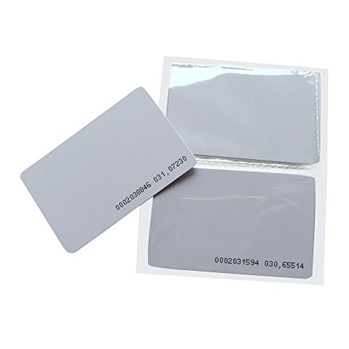 YARONGTECH Tarjetas RFID 125KHz EM4100 Entrada de Puerta Acceso de proximidad en Blanco (10 Unidades)