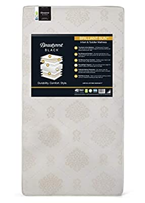 Beautyrest Beginnings Black Brilliant Sun Crib and Toddler Mattress | Waterproof | GREENGUARD Gold Certified | Trusted | Made in The USA