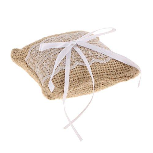 #N/A Decoración rústica para boda, arpillera de arpillera y lazo.