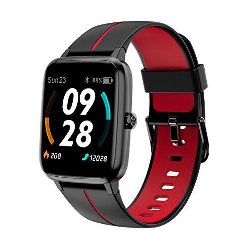 Blulory Smartwatch,Orologio Fitness Sportivo Uomo Donna, Cardiofrequenzimetro da polso, Sonno salute, Smart Watch,Contapassi,Cronometro,Conta Calorie Activity Tracker 5ATM Impermeabli per iOS Andriod