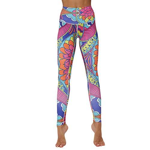 Maleya Farbe-farbige nähende Eignung der Frauen, die Yoga-neunminütige Hosen Laufen lässt Sport Leggins Yogahosen für Damen Sporthose...