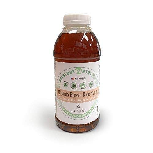 Keystone Pantry Organic Brown Rice Syrup 23 oz Bottle Certified Kosher-Parve Alternative to corn syrup
