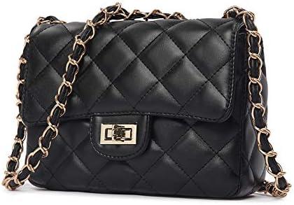 بلاك فاشن حقيبة كتف ماسنجر جلد طويلة تمر بالجسم للنساء حقيبة يد ساتشيل صغيرة [SHP-1]