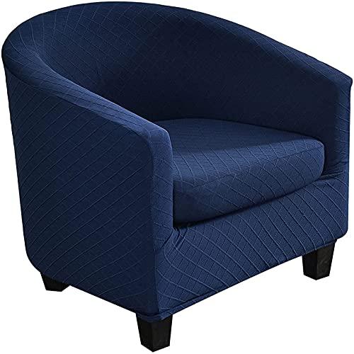 KFDZSW Piezas Funda De Sillón ChesterfieldColor Sólido Elasticas De Cubre Sofá Chester Lavables,para Dormitorio,Recepción,Contador (Azul,1 Piezas)