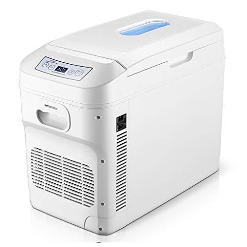 Mini frigoriferi Table Top piccolo compressore frigorifero auto Frigorifero Congelatore Veicolo / aumento della temperatura, con la maniglia portatile e rotella di scorrimento, 35L, AC + DC Compatibil