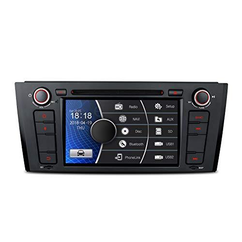 XTRONS 7Inch HD Digital pantalla táctil Radio estéreo de coche in-dash reproductor de DVD con GPS CANbus para BMW Serie 1E81E82E882007–2014tarjeta de mapa incluye