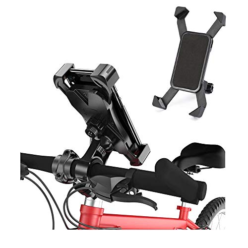 Oporte Movil Bicicleta, Soporte Motocicleta - Rotación 360°Soporte Manillar para 12 Mini, 12 Pro Max,11 Pro, XS Max,XR, X, 8, 7, 6S, Samsung S10 S9 S8, Huawei,4-6.5