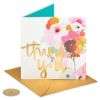 Papyrus Thank You Card  Watercolor Flower