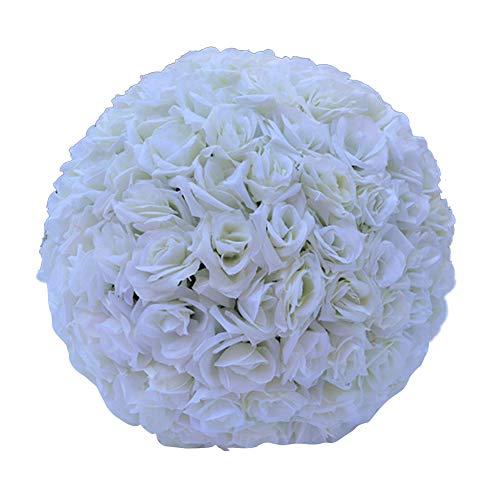 GRASARY Flores artificiales de seda de 20 cm para colgar, decoración de boda, color beige