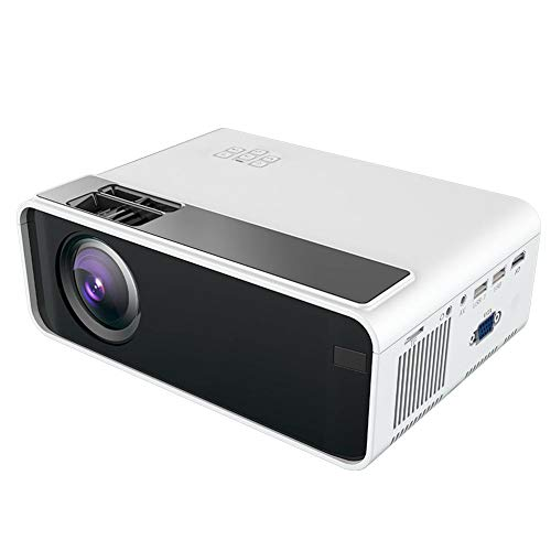 HD Portable Smart Projector, 480P Physical Resolution, AV/USB Input/TF/HDMI/VGA Card, Support MP3 / WMA/AAC / 1080P 1500lm LCD Home Theater Projector, Best Gift (110V-240V, White)(us)