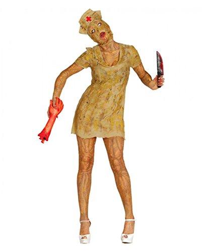 Horror-Shop Silent Mountain Zombie Nurse Untote Kostüm für Halloween M