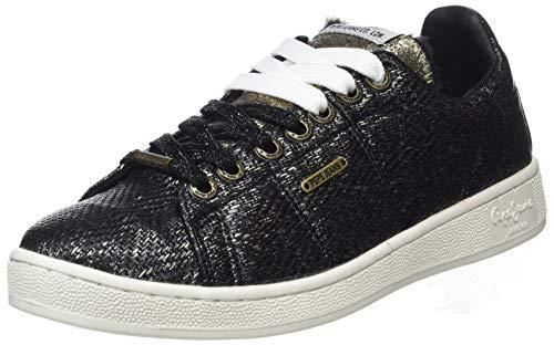 Pepe Jeans London Damen Brompton Cock Sneaker, Schwarz (Black 999), 39 EU