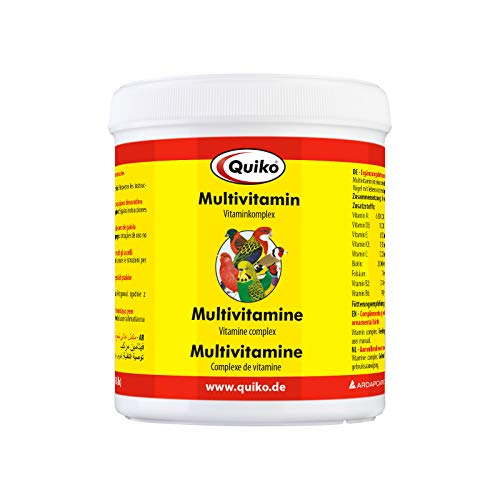 Quiko Multivitamin – complesso vitaminico in Polvere per Tutti i Tipi di Uccelli, Confezione da 1 (1 X 375 g)
