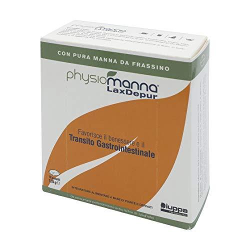 PHYSIOMANNA LAXDEPUR con pura Manna da Frassino: favorisce il benessere e il transito gastrointestinale – 12 panetti, 120 gr