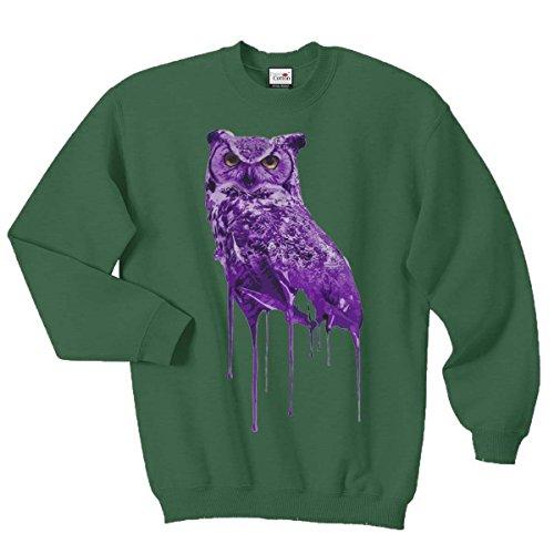 Ovoxo Sweatshirt Jumper Eule Drake Lil Wayne YMCMB Swaetshirt Fresh Dope Herren Damen Gr. M / 96,52 cm-101,60 cm, flaschengrün