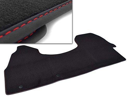 kh Teile Fußmatte (Ziernaht: Rot) Sprinter 907 Velours Automatte Original Qualität 1-teilig Fahrerhaus komplett