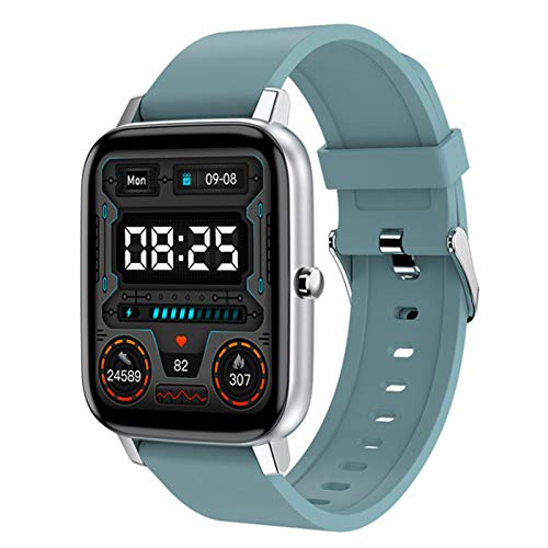 L.B.S H80 Smart Watch Men's 1.69 Pulgadas Fitness Tracker Pulsera Deportiva Reloj De Frecuencia Cardíaca Impermeable para iOS Android Smart Watch,C