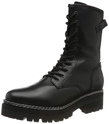Tamaris 1-25809-33 001 Damen Stiefelette Biker Boots Black Schwarz, Groesse:39