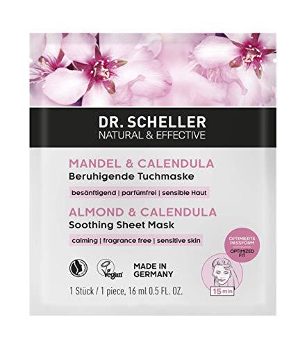 Dr. Scheller Mandel & Calendula- Beruhigende Tuchmaske für sensible Haut, 2er Pack(2 x 16 ml)