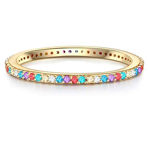 Glanzstücke München Damen-Ring aus 925 Sterling Silber gelbvergoldet mit Zirkonia
