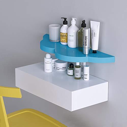 Combinatie toilettafel voor wandmontage 60 cm dubbele flaoting lade nachtkastje make-uptafel opbergdozen verschillende planken rack