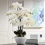 White Phalaenopsis Orchid 29' High Faux Floral Arrangement - Dahlia Studios