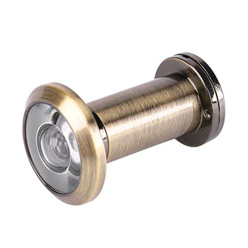 Mirilla para Puerta, Visor de puerta de 200 grados Cubierta de mirilla con visor de puerta con cubierta de privacidad de alta resistencia para 1,37 '' - 2,36 '' 0,62 '' de diámetro(Bronce)