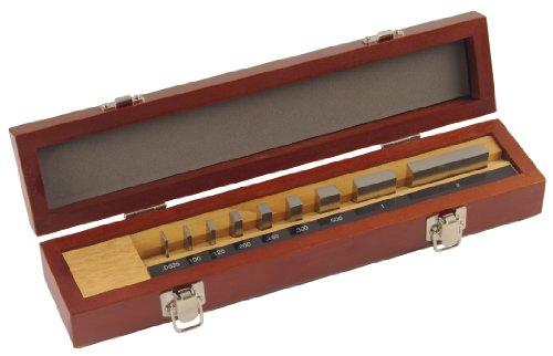 Mitutoyo Steel Rectangular Micrometer Inspection Gage Block Set, ASME Grade AS-1, 0.0625 - 2.0