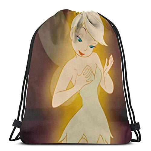 Tinkerbell and Fairy (12) clásico con cordón bolsa de gimnasio mochila hombre mujer deporte almacenamiento bolsa de hombro