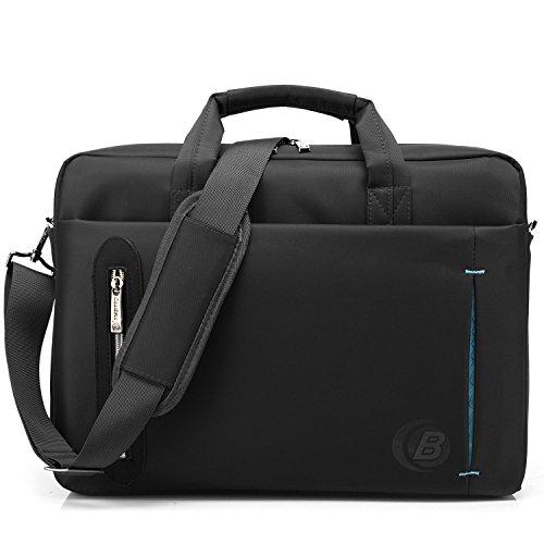 Srotek 17,3 Zoll Laptoptasche Schultertasche Umhängetasche Wasserdicht Notebooktasche Business Aktentasche für Laptop und Notebook, Schwarz
