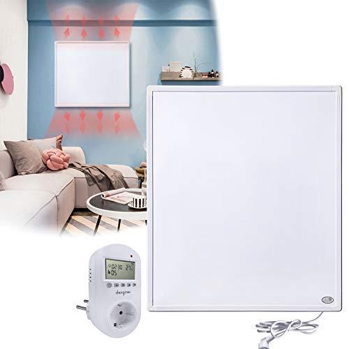 HENGMEI Infrarotheizung 300W mit Thermostat GS Tüv Prüfsiegel Wandheizung Elektroheizung Wand- Deckenmontage Überhitzungsschutz IP54 Schutz Heizpaneel