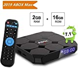 TV Box Android 7.1, [2G+16G] 2018 GooBang Doo XB-III Smart TV Box 4K Full HD con Antenna WiFi/Bluetooth 4.0/Mini Tastiera