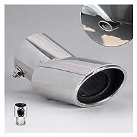 マフラーカッター のためにヒュンダイix35ツーソン2010-2012 20132014カースタイリングハイグレードエキゾーストテールリアマフラーチップパイプ用 リアバンパー 排気管
