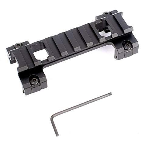 SHI-Y-M-MZJ 20mm Picatinny Schwalbenschwanz zu Weaver Rail Mount Adapter for 100mm Scope Mount Converter for Gewehr Taschenlampe Laser Sight