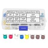 Condensatore trimmer, kit condensatore ceramico a capacità variabile da 80 pezzi 6mm 5/10/20/30/40/60/70/120P kit condensatore elettronico
