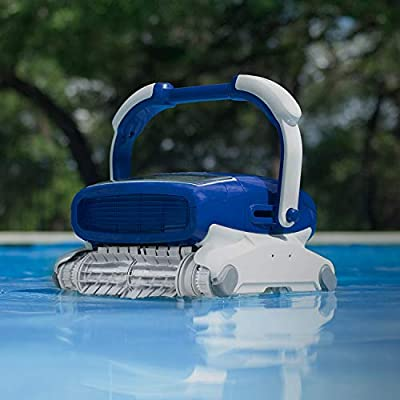 Metalix Aquabot Elite Pro Robotic Pool Cleaner with Bluetooth, Massive Top-Load Cartridge Filters, Dual Brushes, and App