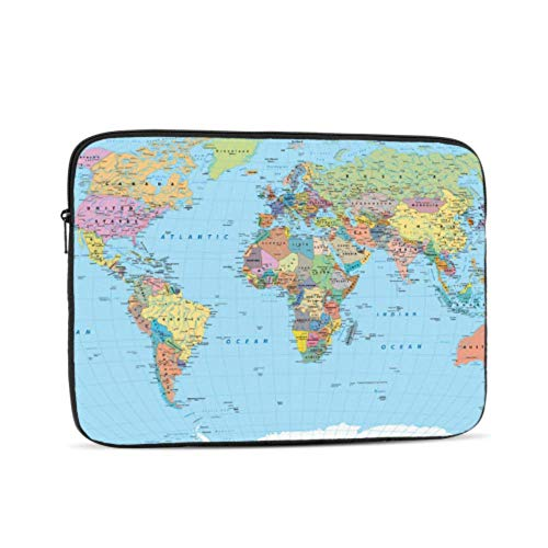 Case For Macbook Air Cartoon Funny World Map 2018 Macbook Pro Case Multi-Color & Size Choices 10/12/13/15/17 Inch Computer Tablet Briefcase Carrying Bag