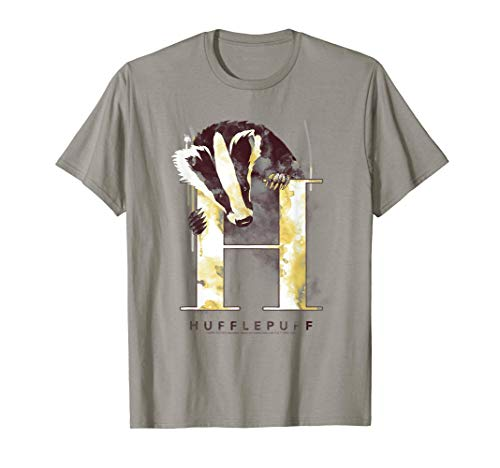 Harry Potter Hufflepuff House Watercolor T-Shirt