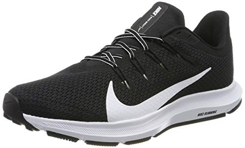 Nike Quest 2, Zapatillas de Running para Asfalto Hombre, Multicolor (Black/White 002), 43 EU