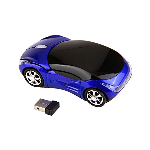known Mini Portable Adjustable 1000DPI Wireless Car Optical Ergonomic Gaming Mouse Mice for PC Laptop + USB Receiver