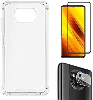 Kit Capa Anti Impacto + Película 5D Cerâmica + Película Câmera Xiaomi Poco X3 NFC Poco X3 Pro