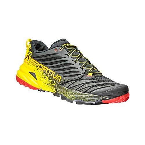 La Sportiva Akasha, Zapatillas de Deporte Mujer, Multicolor (Black/Yellow 000), 36 EU