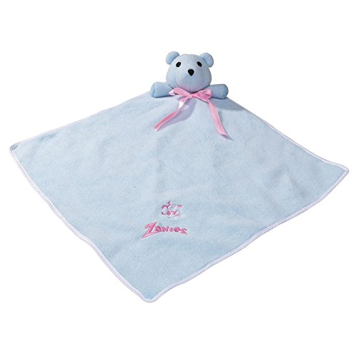 Zanies Snuggle Bear Blanket Dog Toys, Blue