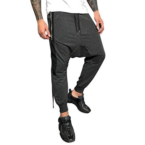 Celucke Herren Jogginghose Cargohosen Trikot-Trainingshose mit Seitenstreifen und Seitentaschen Slim Fit