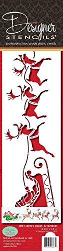 Slitta di Babbo Natale e renne by designer Stencils
