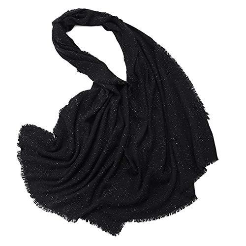 TIANPIN Winter kasjmier wol sjaal Pashmina sjaal wrap voor vrouwen zachte 100% pure wol sjaal mode zijde kleur punt sjaal (70x200cm)