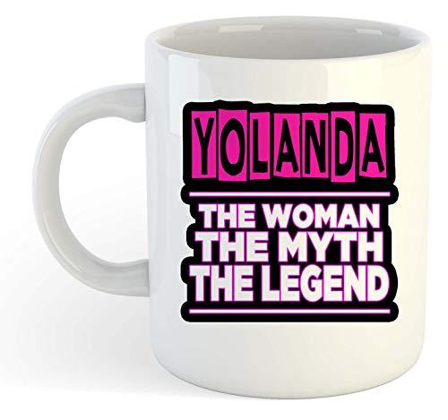 Yolanda - Taza personalizable, diseño de la mujer, el mito, la leyenda