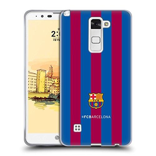 Head Case Designs Offizielle FC Barcelona Streifen Wappen Soft Gel Huelle kompatibel mit LG Stylus 2