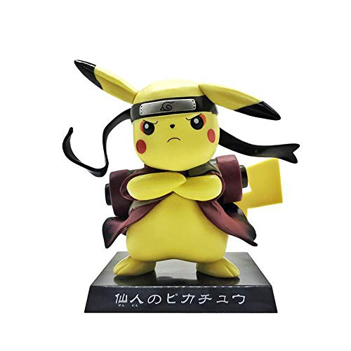 Pikachu Cosplay Anime Character Model Gifts, Anime Action Figure Toys Gifts (Naruto)