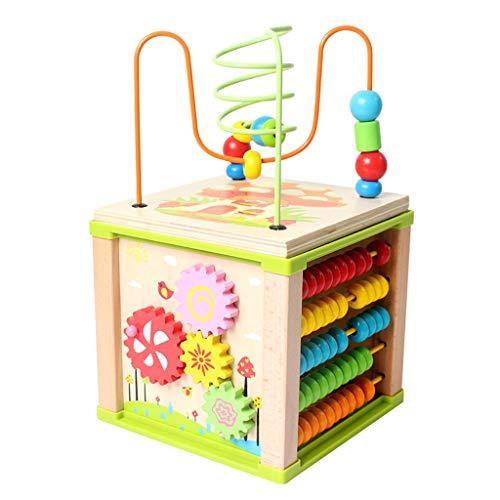 My First 5 in 1 Activity Cube - Jouet pour bébés, Enfants et Enfants, pour en Savoir Plus sur Les Couleurs, Les Formes, Les Lettres et Les Chiffres